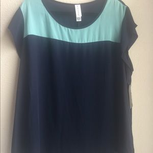 Navy Blue/ Teal Women's Blouse